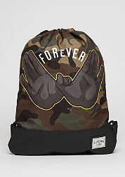 Turnbeutel WL Gymbag Forever black/woodland/yellow