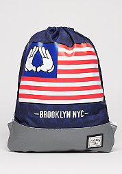 Turnbeutel WL Gymbag BK Salute navy/grey/mc