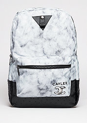 C&S WL Backpack No.1 Uptown white marble/black marble