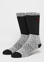 Fashionsocke Ele Print Crew white/black/red