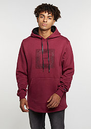 C&S BL Hoody Paiz Curved wine/black