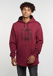 Hooded-Sweatshirt BL Hoody Paiz Curved wine/black