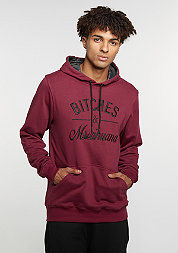 Hooded-Sweatshirt GL Hoody B&M maroon/black