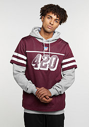 Hooded-Sweatshirt GL Hoody Fo Twenny grey heather/maroon/white