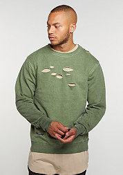 Sweatshirt BL Crew Ripped olive/olive