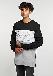 C&S WL Crew Bonjour Long black/grey heather/marble