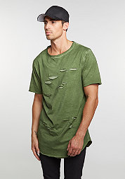 T-Shirt BL Ripped Scallop olive/olive