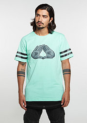 T-Shirt WL BKNY Long mint/black/grey