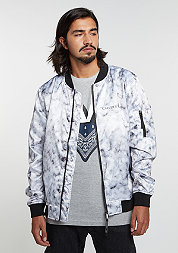 C&S Jacket WL Infintiy Bomber white marble/black