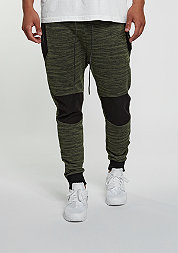 C&S Sweatpant BL Theo black/olive
