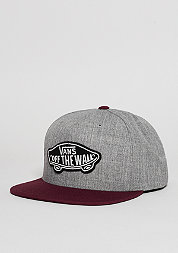 Snapback-Cap Classic Patch heather grey/port royale