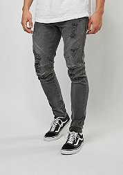 C&S Paneled Denim Pants vintage distressed black