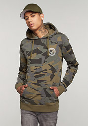 Hooded-Sweatshirt Army black/multi