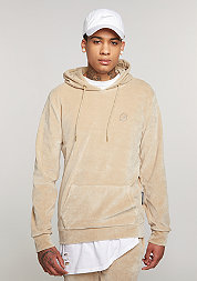 Hooded-Sweatshirt Velour nude