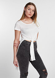 T-Shirt Slide Slit Viscose long off-white
