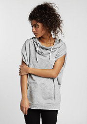 T-Shirt Sleeveless Terry High Neck grey