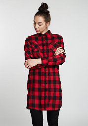 Hemd Checked Flanell Shirt Dress blk/red