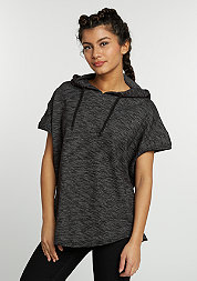 Hooded-Sweatshirt Melange Sleeveless Terry d.grey