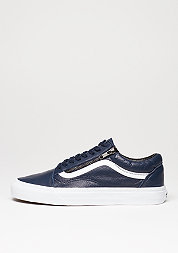 Old Skool Zip Antique Leather dress blue/true white