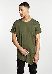 T-Shirt Asymetric Long olive