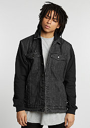 Hooded Denim Fleece black/black