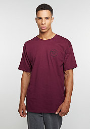 T-Shirt Wheeler || STND burgundy/black
