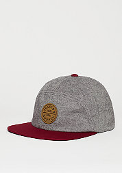Oath 7 Panel Cap heather grey/burgundy