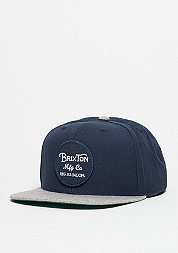 Snapback-Cap Wheeler navy/light heather grey