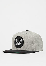 Snapback-Cap Wheeler light heather grey/black