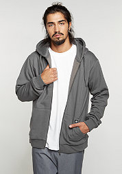 Hooded-Zipper Kingsley charcoal grey