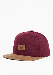 Snapback-Cap Suede 6-Panel burgundy wool