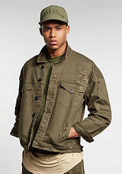 C&S Jacket Drop Shoulder Denim olive