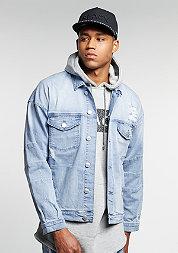 C&S Jacket Drop Shoulder Denim washed blue