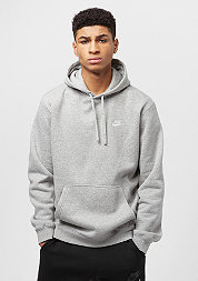 Hooded-Sweatshirt PO FLC Club dark grey heather/dark grey heather/white