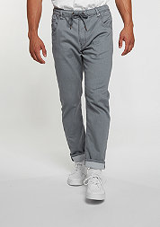 Chino-Hose Jogger Jeans grey knit denim