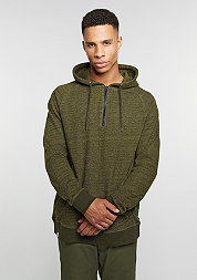 Hooded-Sweatshirt Quarter Zip Hoody dark olive melange