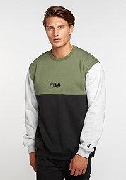 Sweatshirt Bravo black/olive/mid grey melange