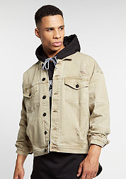 C&S Jacket Drop Shoulder Denim sand