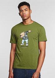 T-Shirt Crew Dabbin olive/mc