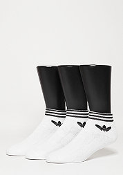 Sportsocke Trefoil Ankle Stripes 3PP white/black