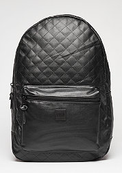 Rucksack Diamond Quilt Leather Imitation black