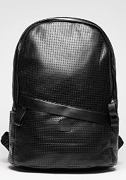 Rucksack Perforated Leather Imitation black