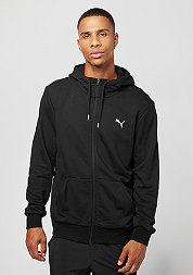 Hooded-Sweatshirt ESS FZ cotton black