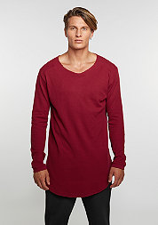 Longsleeve Long Shaped Waffle burgundy
