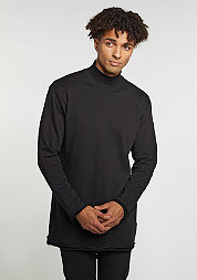 Long Open Edge Turtleneck black