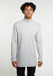 Sweatshirt Long Open Edge Turtleneck grey