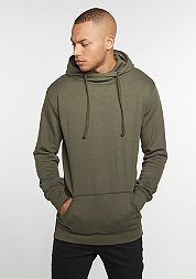 Hooded-Sweatshirt Loose Terry Long olive