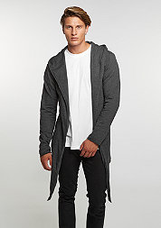 Strickpullover Long Hooded Open Edge Cardigan charcoal