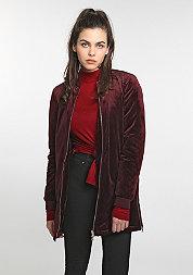 Übergangsjacke Long Velvet burgundy