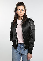 Satin Bomber black